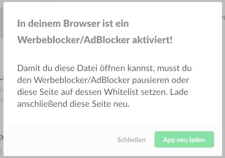 werbeblocker deaktivieren